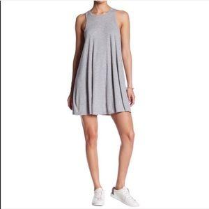 Free People LA Nite Mini Dress Heather Grey NWT